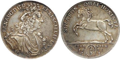 2/3 Талер Германия Серебро Ernest August (1629 - 1698)