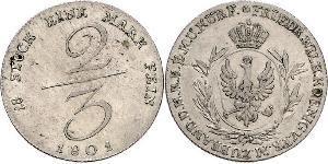 2/3 Талер Пруссия (королевство) (1701-1918) Серебро
