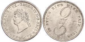2/3 Талер Федеральные земли Германии Серебро