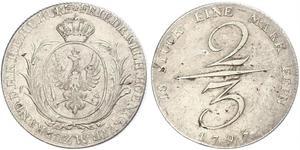 2/3 Талер Королівство Пруссія (1701-1918) Срібло