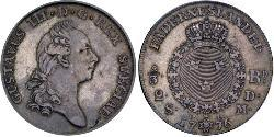 2/3 Riksdaler Schweden Silber Gustav III. (Schweden) (1746 - 1792)