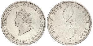 2/3 Thaler 联邦州 (德国) 銀