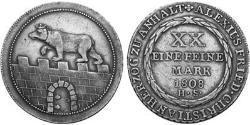 2/3 Thaler Anhalt-Bernburg (1603 - 1863) 銀 Alexius Frederick Christian, Duke of Anhalt-Bernburg (1767 – 1834)