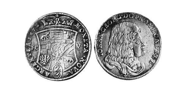 2/3 Thaler Anhalt-Dessau (1603 -1863) Argent Jean-Georges II d
