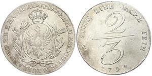 2/3 Thaler Royaume de Prusse (1701-1918) Argent