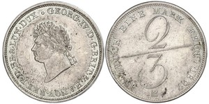2/3 Thaler States of Germany Argent