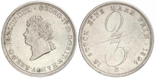 2/3 Thaler Stati federali della Germania Argento