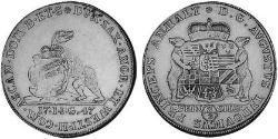 2/3 Thaler Anhalt-Köthen (1603 -1853) Plata Augustus Louis, Prince of Anhalt-Köthen (1697 – 1755)