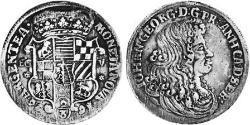 2/3 Thaler Anhalt-Dessau (1603 -1863) / Anhalt (1806 - 1918) Silber Johann Georg II. (Anhalt-Dessau)(1627 – 1693)