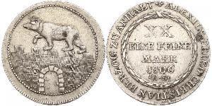 2/3 Thaler Anhalt-Bernburg (1603 - 1863) Silver Alexius Frederick Christian, Duke of Anhalt-Bernburg (1767 – 1834)