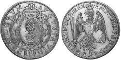 2/3 Thaler Imperial City of Augsburg (1276 - 1803) Silver Ferdinand II, Holy Roman Emperor  (1578 -1637)