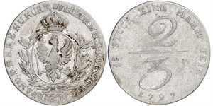 2/3 Thaler Kingdom of Prussia (1701-1918) Silver