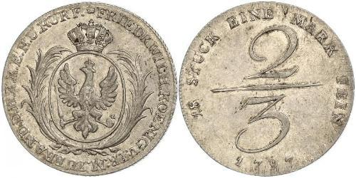 2/3 Thaler Kingdom of Prussia (1701-1918) Silver