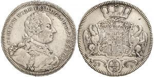 2/3 Thaler Principality of Ansbach (1398–1792) Silver Charles William Frederick, Margrave of Brandenburg-Ansbach (1712 – 1757)