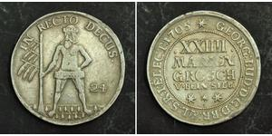 2/3 Thaler / 1 Gulden / 24 Mariengroschen 联邦州 (德国) 銀