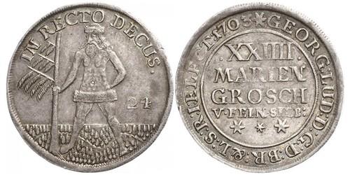 2/3 Thaler / 1 Gulden / 24 Mariengroschen States of Germany Argent
