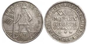 2/3 Thaler / 1 Gulden / 24 Mariengroschen Stati federali della Germania Argento