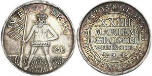 2/3 Thaler / 1 Gulden / 24 Mariengroschen States of Germany Plata
