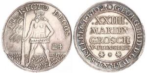 2/3 Thaler / 1 Gulden / 24 Mariengroschen States of Germany Silber