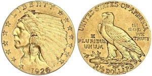 2.5 Долар США (1776 - ) Золото