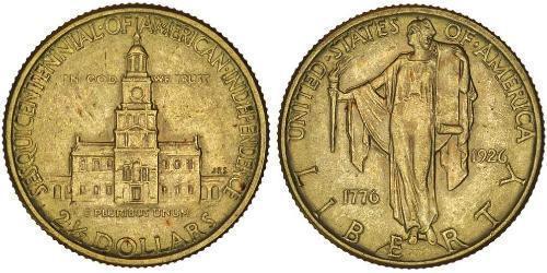 2/5 Долар США (1776 - ) Золото