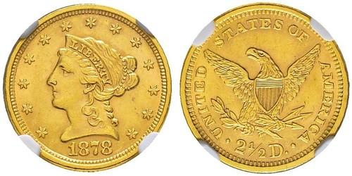 2.5 Доллар США (1776 - ) Золото
