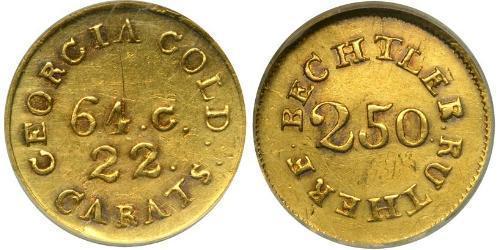 2.5 Доллар США (1776 - ) Золото Christopher Bechtler (1782-1843)