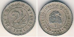 2.5 Сентаво United States of Colombia  (1863 - 1886) Нікель/Мідь