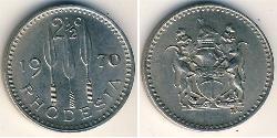 2.5 Cent Rhodesia (1965 - 1979) Copper/Nickel