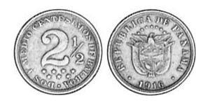 2.5 Centesimo Republic of Panama Copper/Nickel