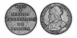 2.5 Centesimo Panama Kupfer/Nickel