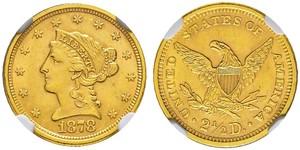2.5 Dólar Estados Unidos de América (1776 - ) Oro
