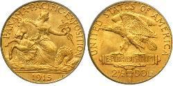 2.5 Dollar Vereinigten Staaten von Amerika (1776 - ) Gold