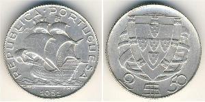2,5 Escudo Estado Novo (Portugal) (1933 - 1974) Argent