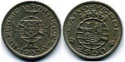 2,5 Escudo Cape Verde (1456 - 1975) Bronze/Nickel