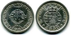 2,5 Escudo São Tomé and Príncipe (1469 - 1975) Kupfer/Nickel