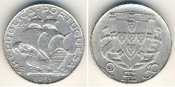 2,5 Escudo Estado Novo (Portugal) (1933 - 1974) Silber