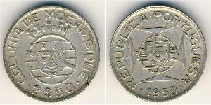 2,5 Escudo Mozambique Silver
