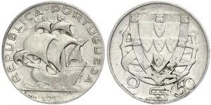 2,5 Escudo Portogallo / Portuguese Republic - Ditadura Nacional (1926 - 1933)