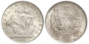 2,5 Escudo Portuguese Republic - Ditadura Nacional (1926 - 1933) / 葡萄牙