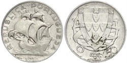 2,5 Escudo Portugal / Portuguese Republic - Ditadura Nacional (1926 - 1933)
