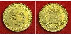 2.5 Peseta 西班牙 青铜/铝 弗朗西斯科·佛朗哥 (1892 – 1975)