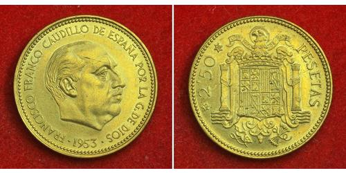 2.5 Peseta España Aluminio/Bronce Francisco Franco(1892 – 1975)