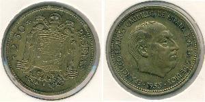 2.5 Peseta Spain Bronze/Aluminium Francisco Franco (1892 – 1975)