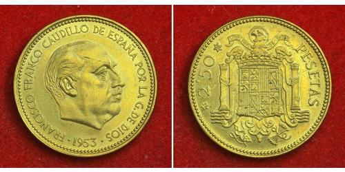 2.5 Peseta Spanien Bronze/Aluminium Francisco Franco(1892 – 1975)