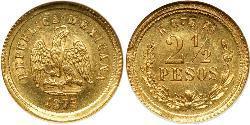 2.5 Peso Mexiko (1867 - ) Gold