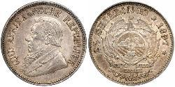 2.5 Shilling South Africa 銀 保罗·克留格尔 (1825 - 1904)