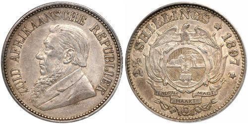 2.5 Shilling South Africa 銀 保罗·克留格尔 (1825 - 1904)