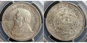 2.5 Shilling Sudáfrica Plata Paul Kruger (1825 - 1904)