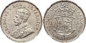 2.5 Shilling Sudáfrica Plata Jorge V (1865-1936)